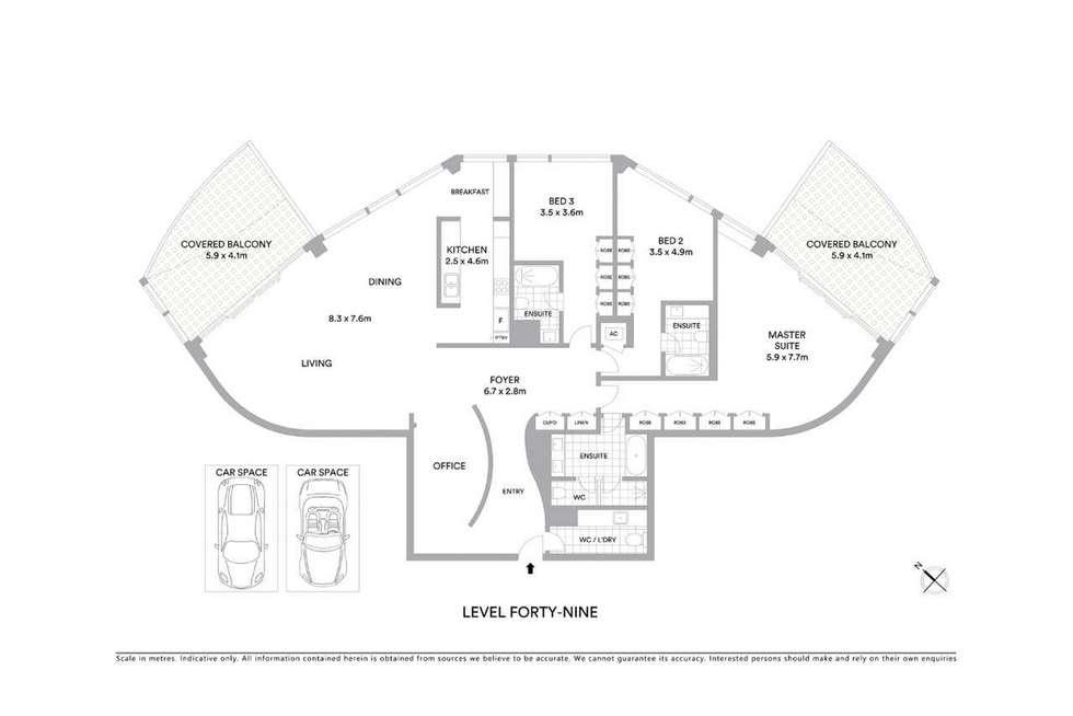 Floorplan of Homely apartment listing, 4903/71 Eagle Street, Brisbane City QLD 4000