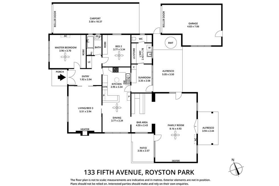 Floorplan of Homely house listing, 133 Fifth Avenue, Royston Park SA 5070
