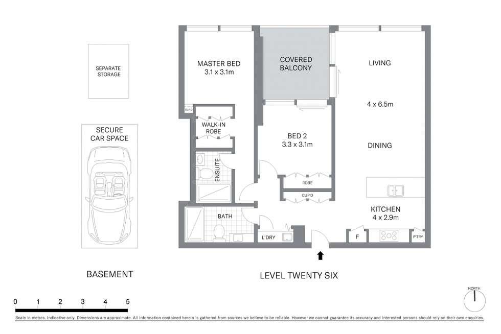 Floorplan of Homely apartment listing, 2602/130 Elizabeth Street, Sydney NSW 2000