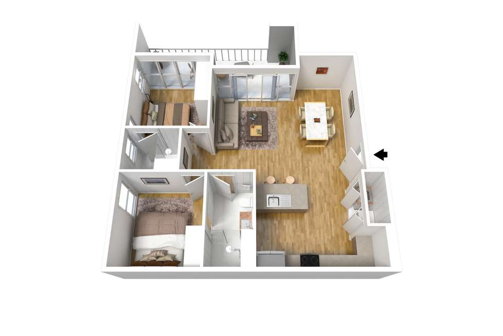 Floorplan of Homely apartment listing, 509/4 Fifth Street, Bowden SA 5007
