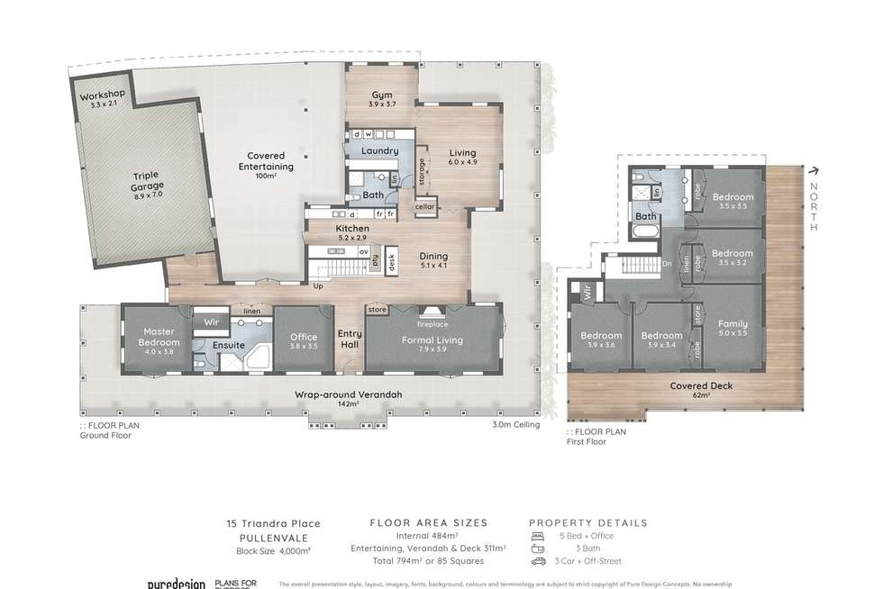 Floorplan of Homely house listing, 15 Triandra Place, Pullenvale QLD 4069