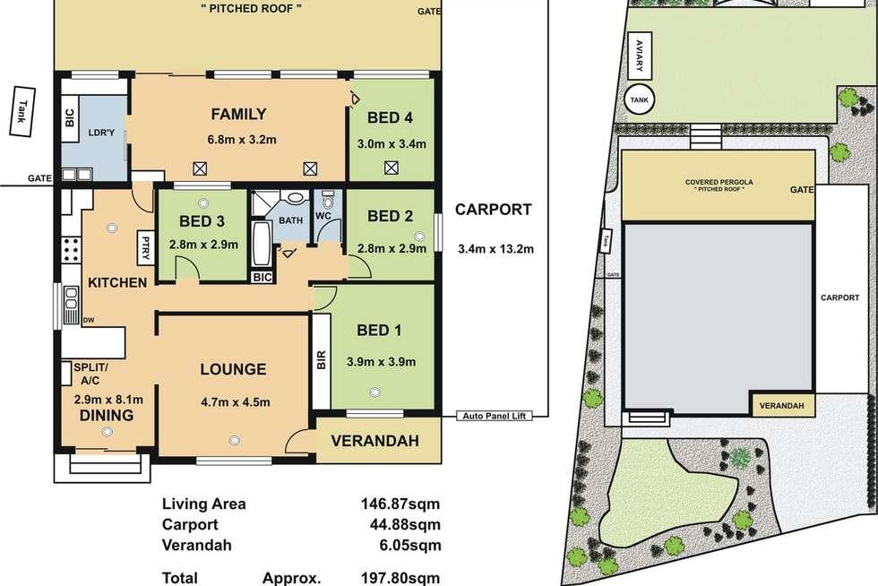 Floorplan of Homely house listing, 2 Lincoln Drive, Redwood Park SA 5097