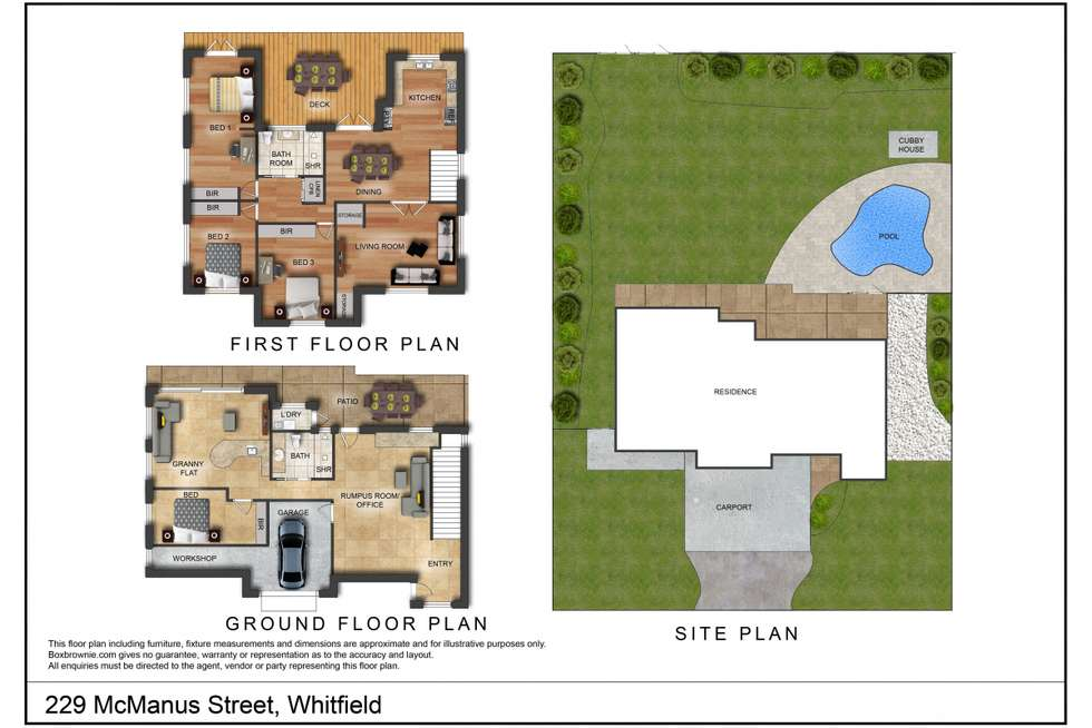 Floorplan of Homely house listing, 229 McManus Street, Whitfield QLD 4870