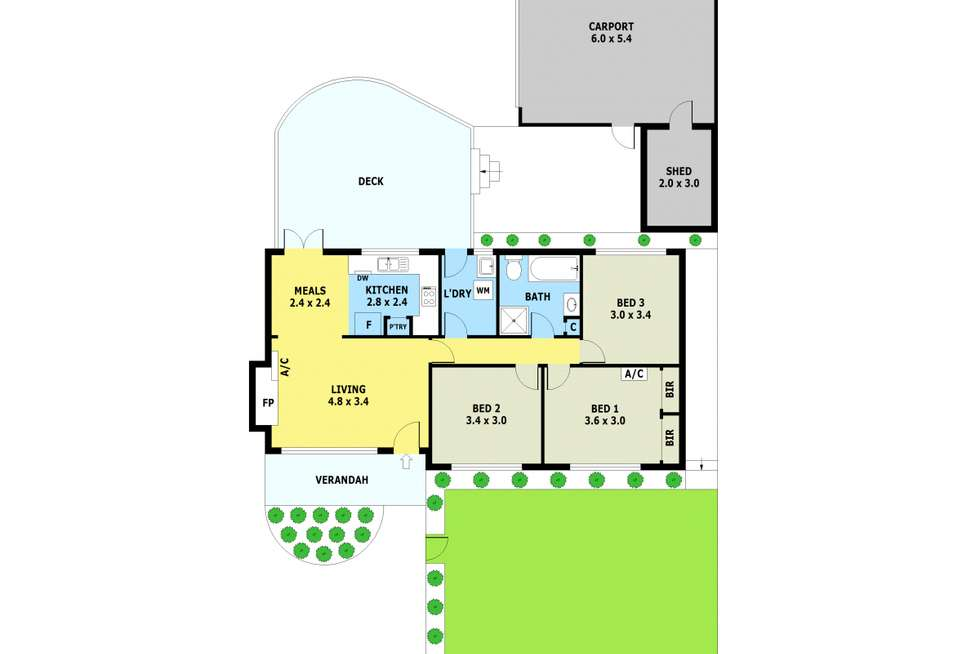 Floorplan of Homely house listing, 1/168 Bayswater Road, Croydon South VIC 3136