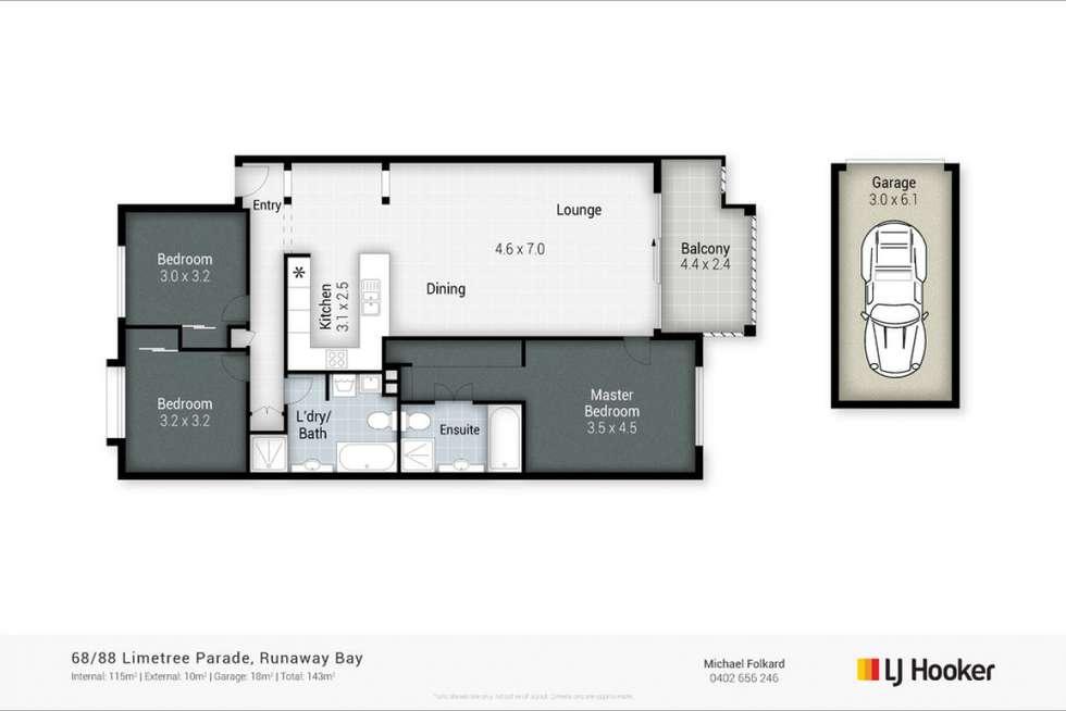 Floorplan of Homely unit listing, 68/88 Limetree Parade, Runaway Bay QLD 4216