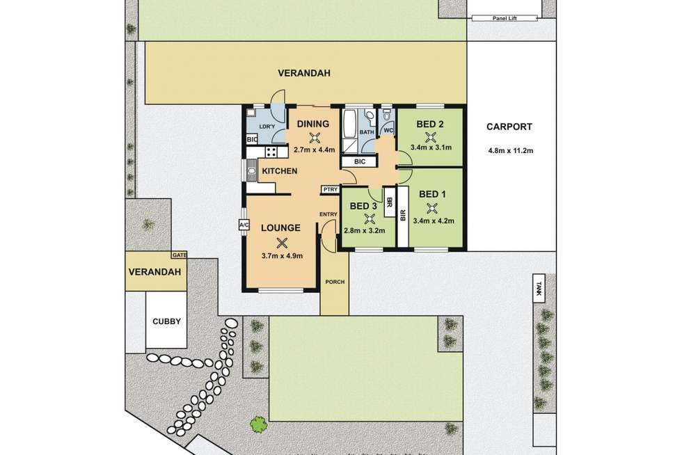 Floorplan of Homely house listing, 24 Honeysuckle Drive, Hope Valley SA 5090