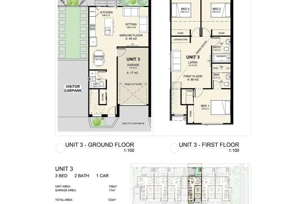 Floorplan of Homely townhouse listing, 2/17 High Street, Waratah NSW 2298