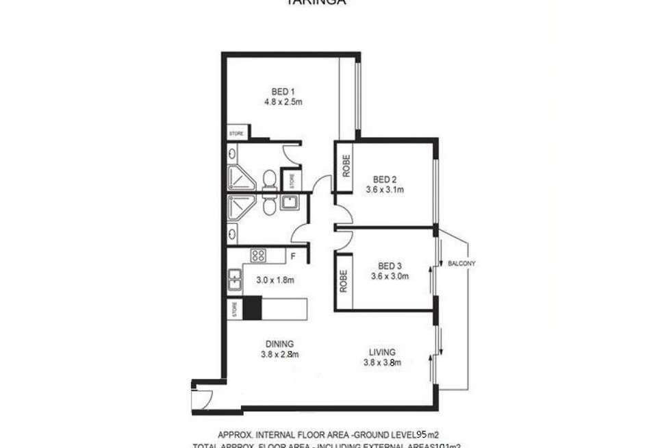 Floorplan of Homely unit listing, 35 Morrow Street, Taringa QLD 4068