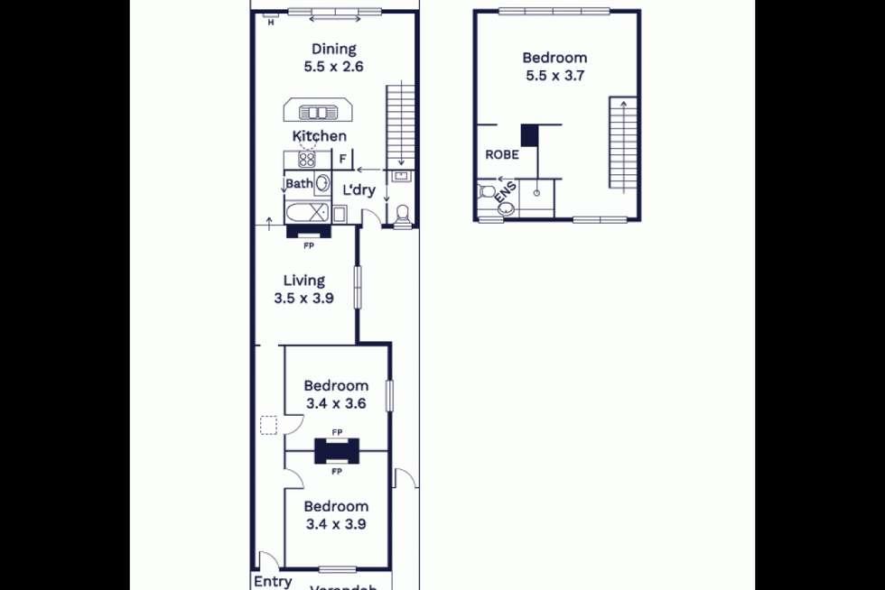 Floorplan of Homely house listing, 7 Smith Street, Kensington VIC 3031