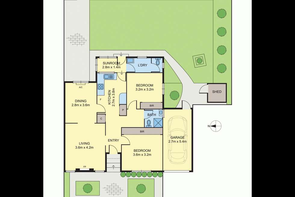 Floorplan of Homely unit listing, 3/1272 Glen Huntly Road, Carnegie VIC 3163
