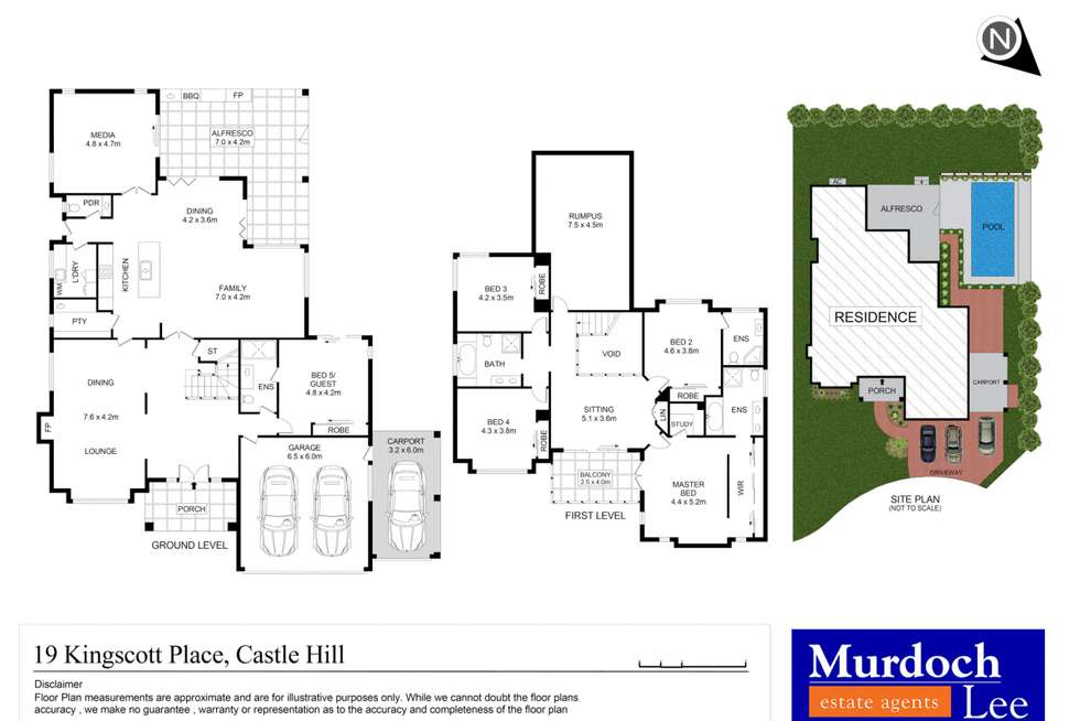 Floorplan of Homely house listing, 19 Kingscott Place, Castle Hill NSW 2154