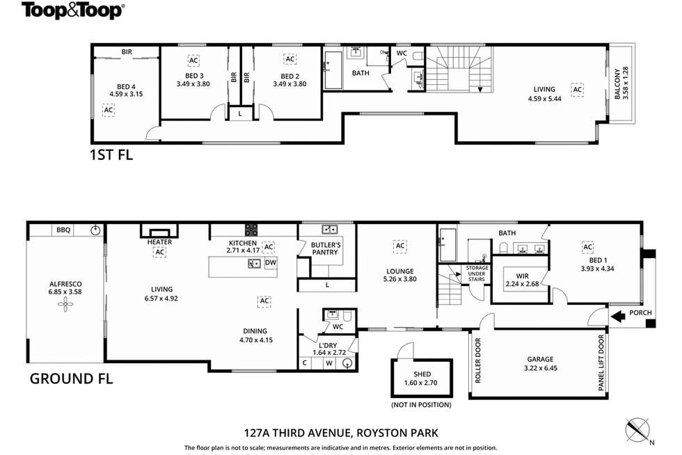 Floorplan of Homely house listing, 127A Third Avenue, Royston Park SA 5070