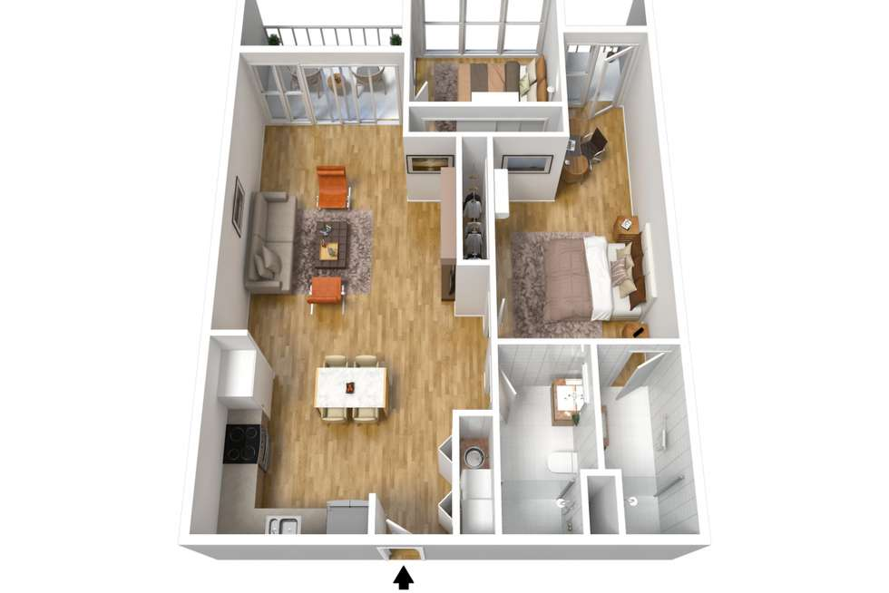 Floorplan of Homely apartment listing, 517/160 Grote Street, Adelaide SA 5000
