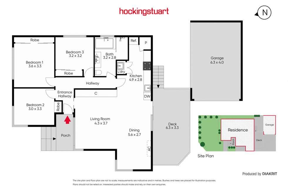 Floorplan of Homely unit listing, 1/52 Eram Road, Box Hill North VIC 3129