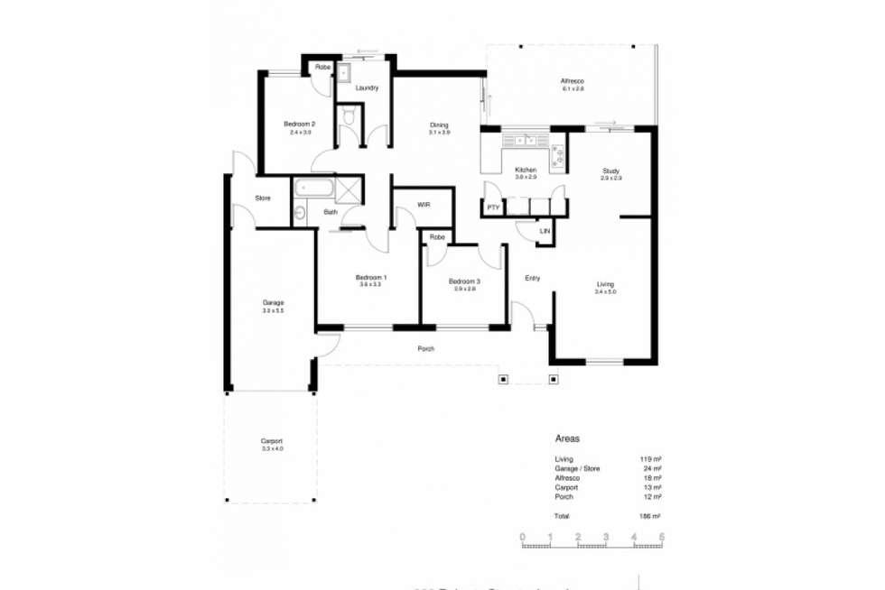 Floorplan of Homely house listing, 220 Roberts Street, Joondanna WA 6060
