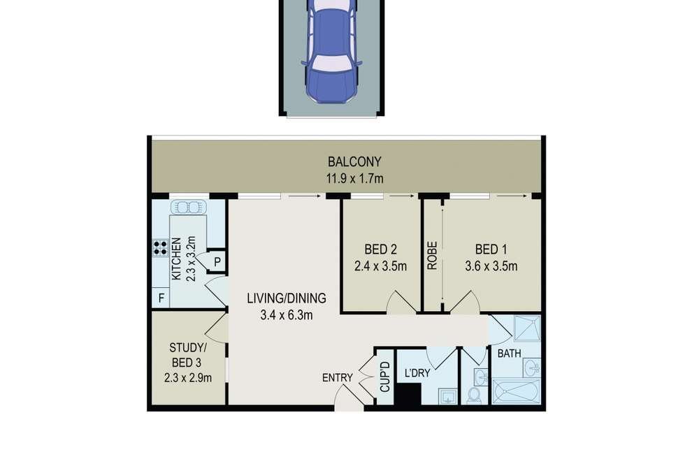 Floorplan of Homely apartment listing, 19/68 Great Western Highway, Parramatta NSW 2150