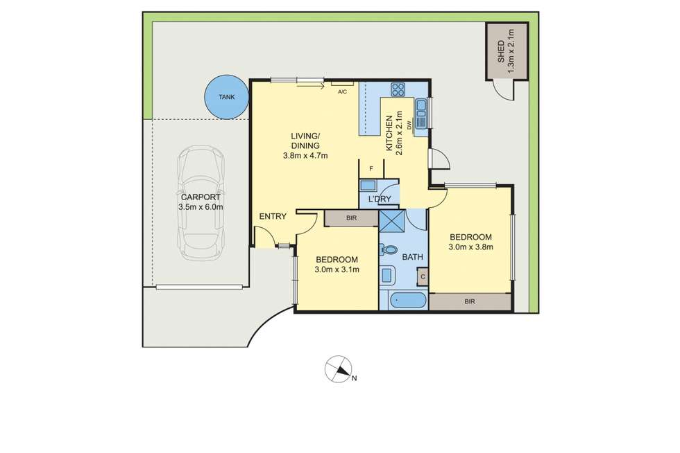 Floorplan of Homely unit listing, 3/12 Ambrie Crescent, Noble Park VIC 3174