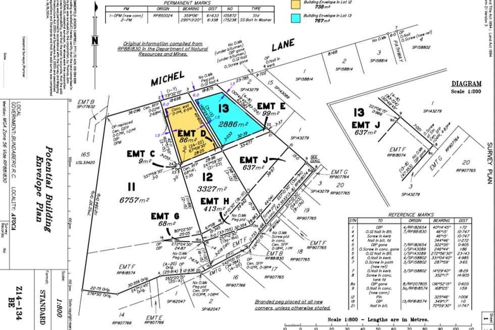 Floorplan of Homely residentialLand listing, 1 Michel Lane, Avoca QLD 4670