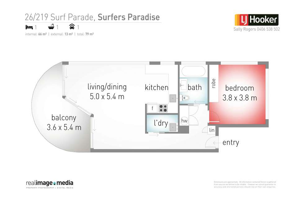 Floorplan of Homely apartment listing, 26/219 Surf Parade, Surfers Paradise QLD 4217