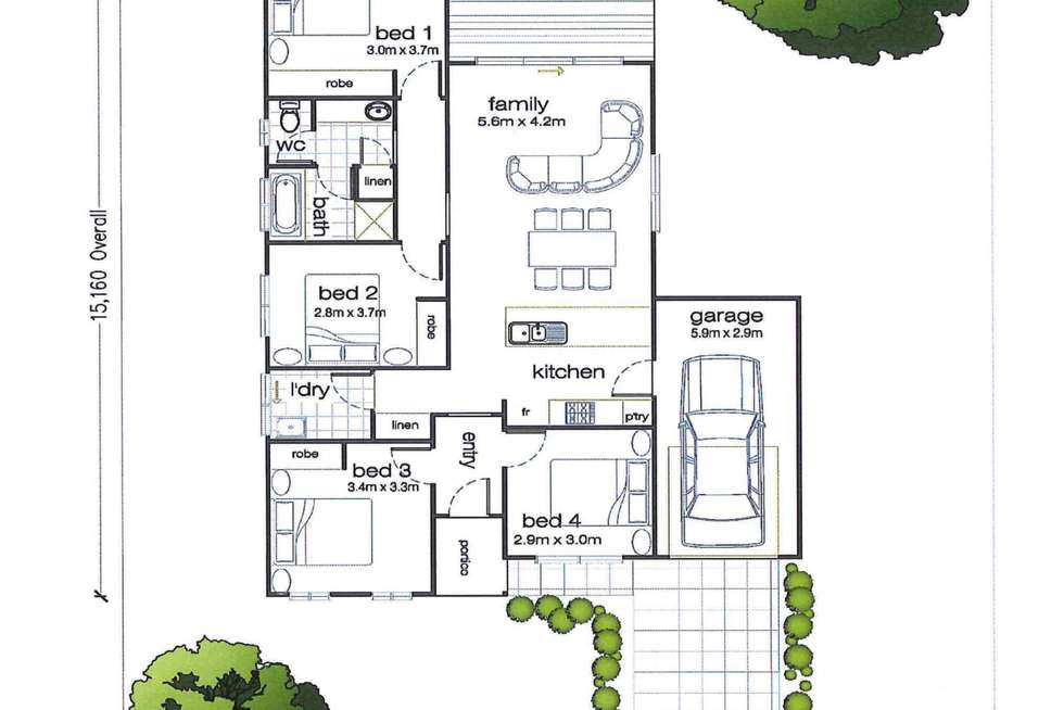 Floorplan of Homely house listing, Lot 305 Rosella Rise, Mannum SA 5238