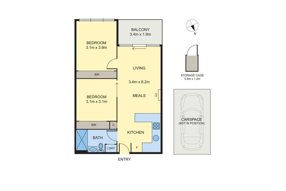 Floorplan of Homely apartment listing, 209/6 Railway Road, Cheltenham VIC 3192