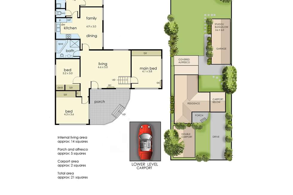 Floorplan of Homely house listing, 26 Jetty Road, Dromana VIC 3936