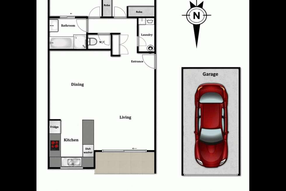 Floorplan of Homely unit listing, 29/22 Warren Street, St Lucia QLD 4067