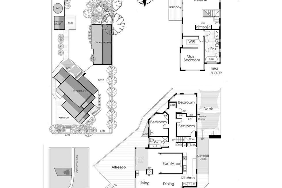Floorplan of Homely house listing, 4 The Promenade, Somers VIC 3927