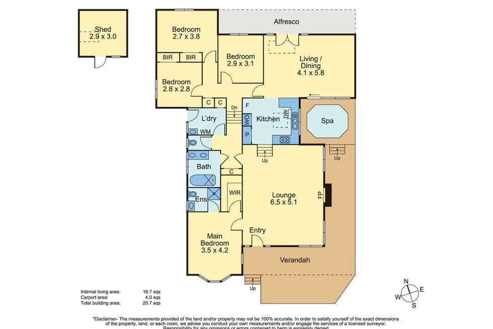 Floorplan of Homely house listing, 41 Wynnstay Road, Mount Eliza VIC 3930