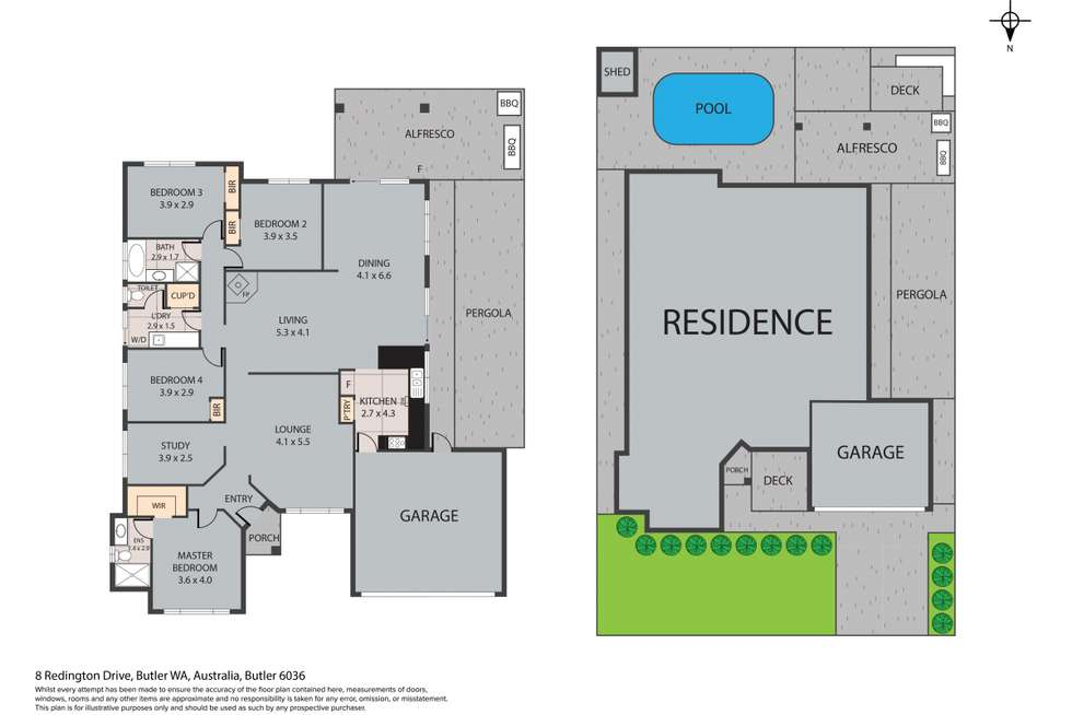Floorplan of Homely house listing, 8 Redington Drive, Butler WA 6036