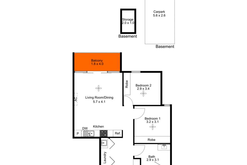 Floorplan of Homely apartment listing, 214/3 Fourth Street, Bowden SA 5007