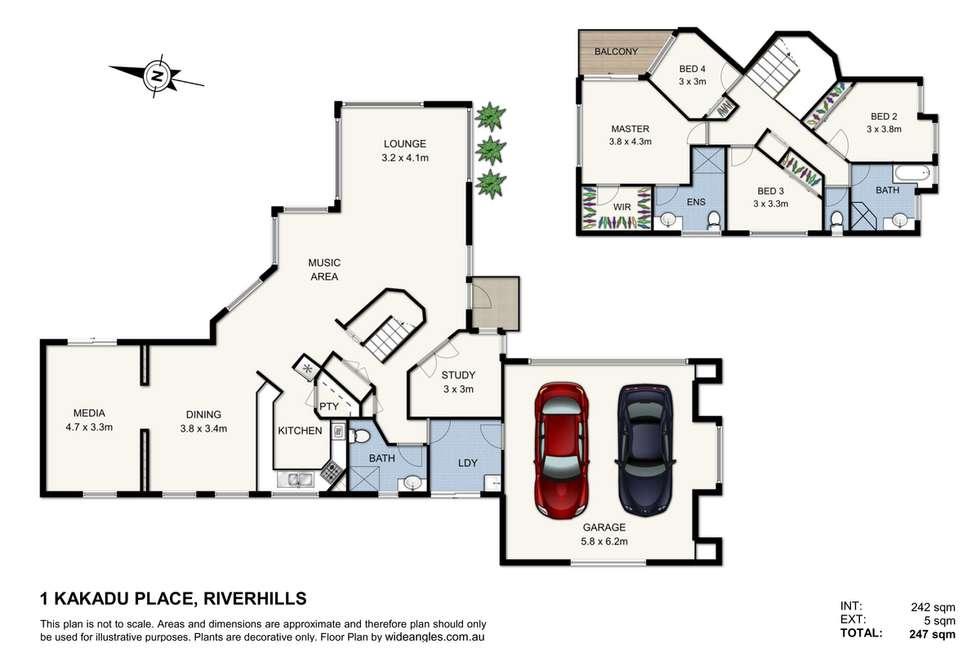 Floorplan of Homely house listing, 1 Kakadu Close, Riverhills QLD 4074