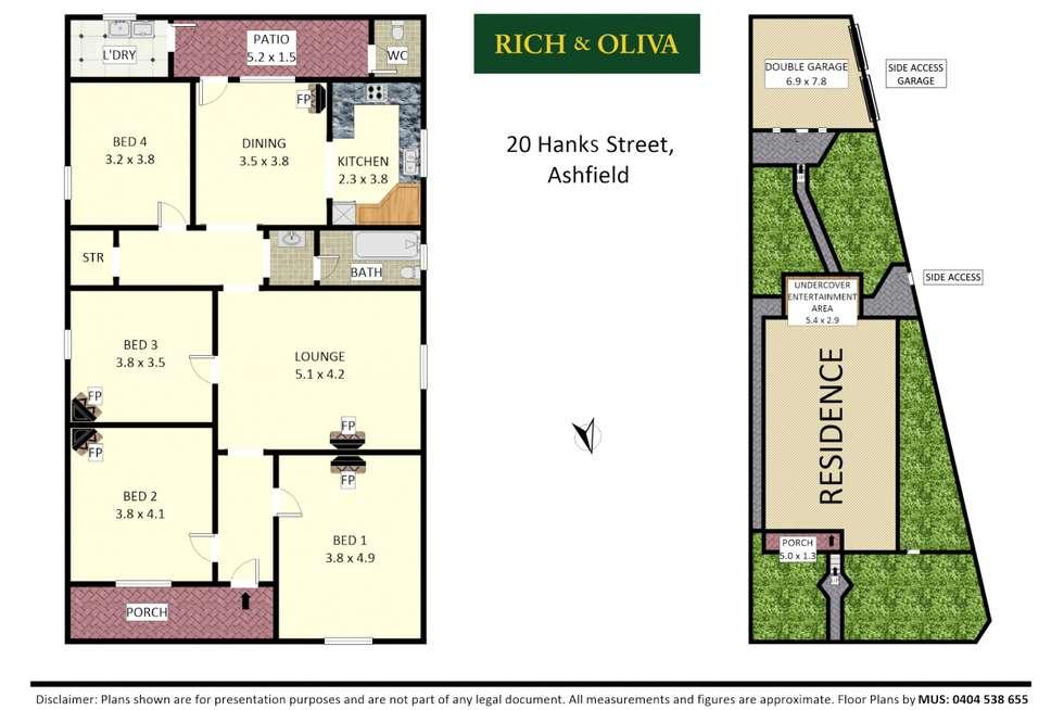 Floorplan of Homely house listing, 20 Hanks Street, Ashfield NSW 2131