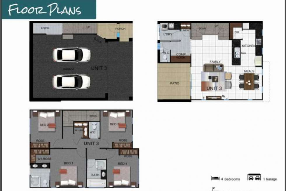 Floorplan of Homely townhouse listing, 3/17 Berge Street, Mount Gravatt QLD 4122