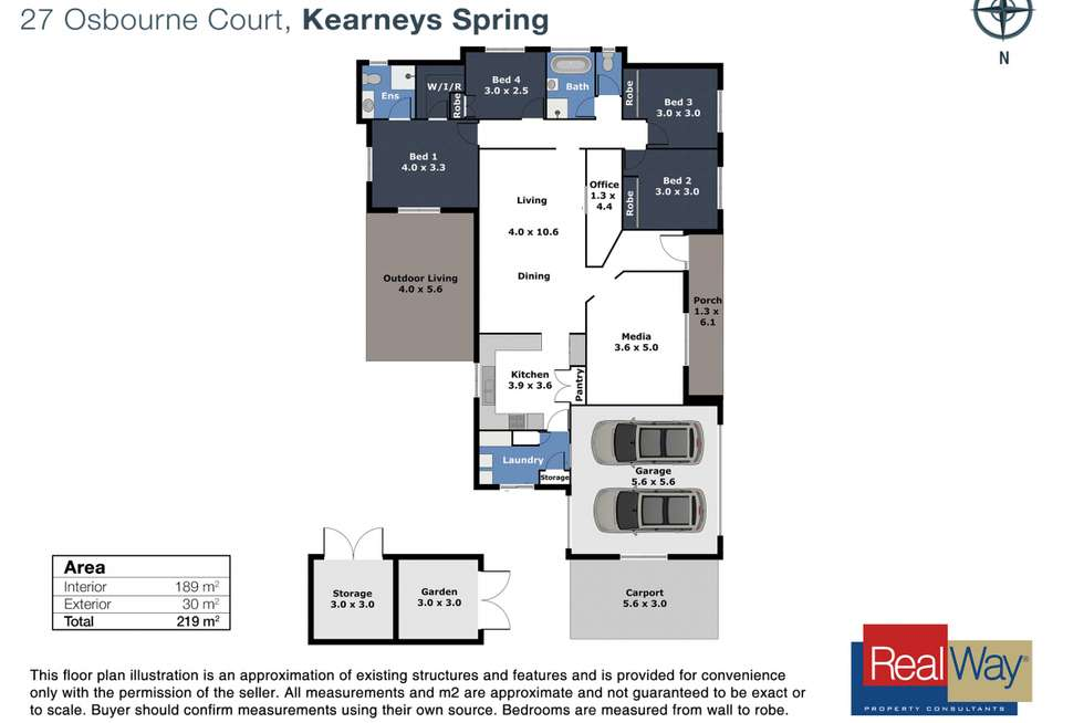 Floorplan of Homely house listing, 27 Osborne Court, Kearneys Spring QLD 4350