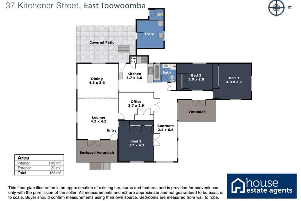 Floorplan of Homely house listing, 37 Kitchener Street, East Toowoomba QLD 4350
