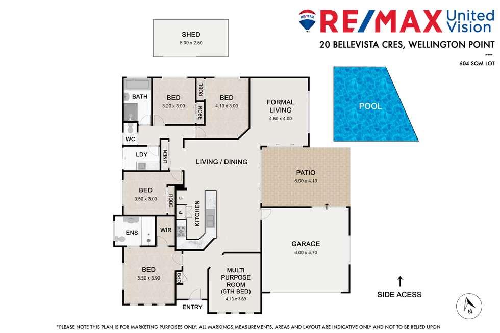 Floorplan of Homely house listing, 20 Bellevista Crescent, Wellington Point QLD 4160