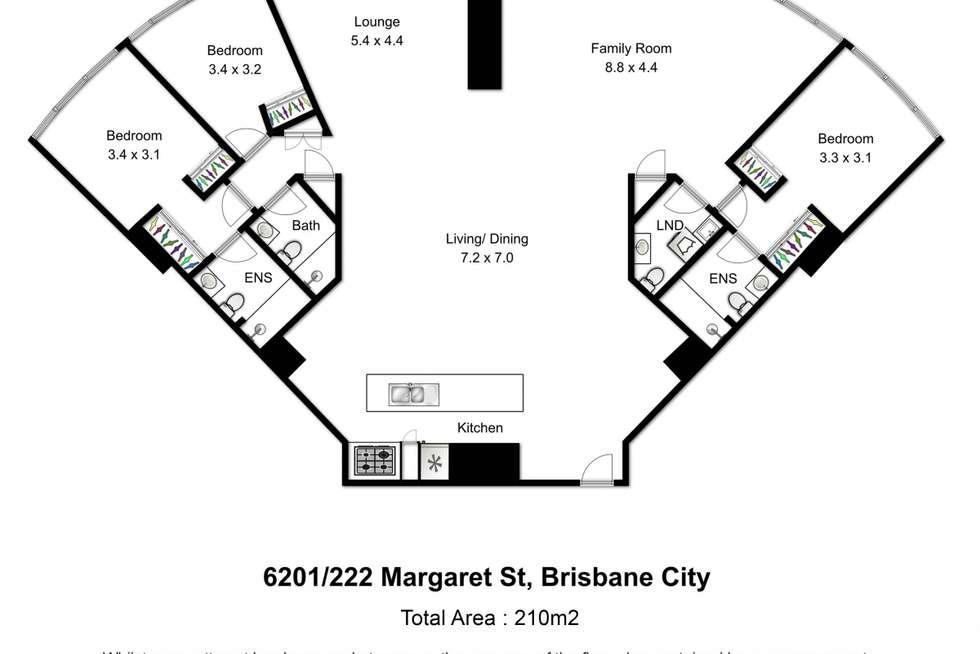 Floorplan of Homely apartment listing, 6201/222 Margaret Street, Brisbane City QLD 4000