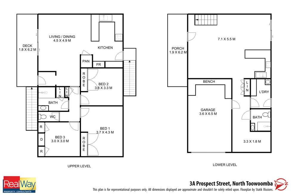 Floorplan of Homely house listing, 3A Prospect Street, North Toowoomba QLD 4350