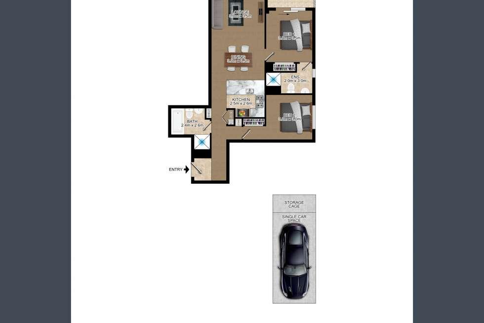 Floorplan of Homely apartment listing, 302/11 Hassall Street, Parramatta NSW 2150