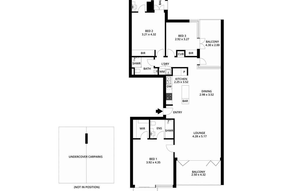Floorplan of Homely apartment listing, 502/268 Flinders Street, Adelaide SA 5000