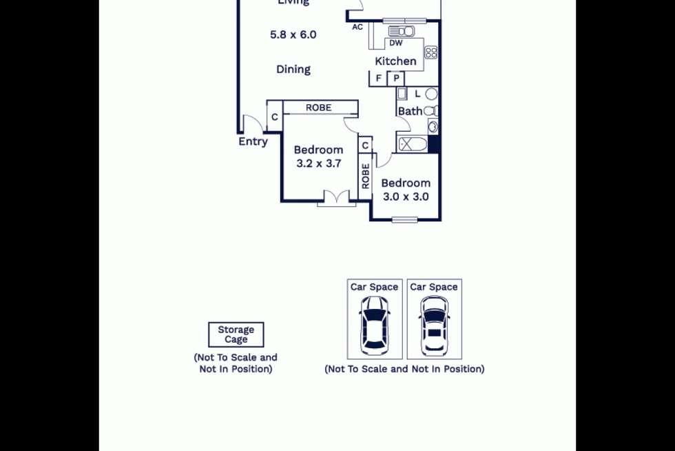 Floorplan of Homely apartment listing, 42/8-32 Howlett Street, Kensington VIC 3031