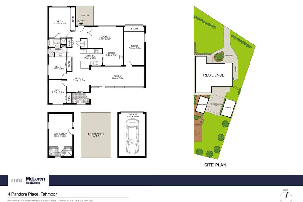 Floorplan of Homely house listing, 4 Pandora Place, Tahmoor NSW 2573