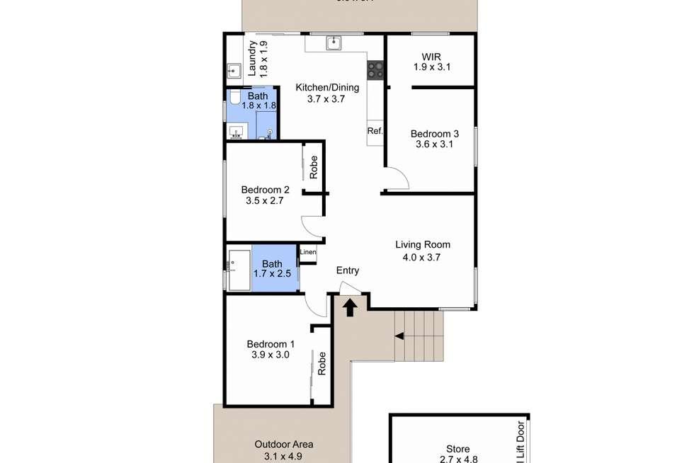Floorplan of Homely house listing, 135 Edith Street, Waratah NSW 2298