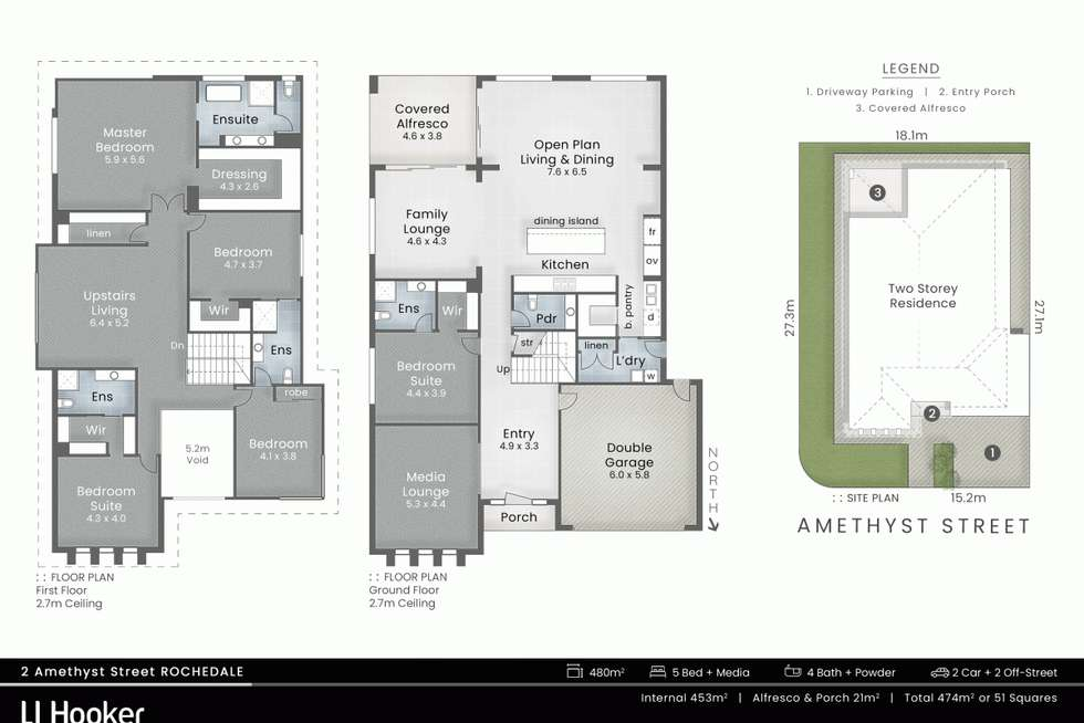 Floorplan of Homely house listing, 2 Amethyst Street, Rochedale QLD 4123