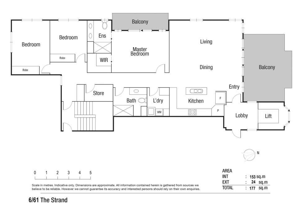 Floorplan of Homely apartment listing, 6/61 The Strand, North Ward QLD 4810