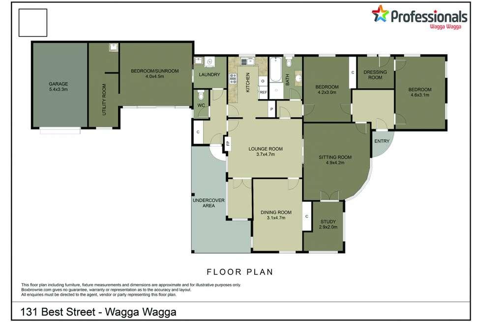Floorplan of Homely house listing, 131 Best Street, Wagga Wagga NSW 2650