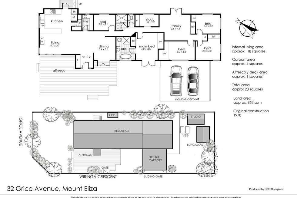 Floorplan of Homely house listing, 32 Grice Avenue, Mount Eliza VIC 3930