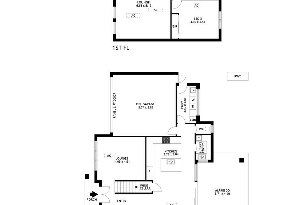 Floorplan of Homely house listing, 2A Darebin Street, Mile End SA 5031