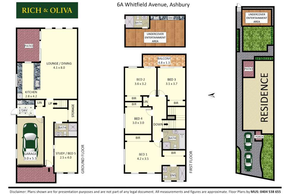 Floorplan of Homely semiDetached listing, 6A Whitfield Avenue, Ashbury NSW 2193
